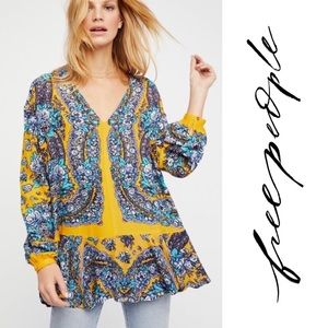 Free People - Lovely Dreams Print Tunic in Mustard